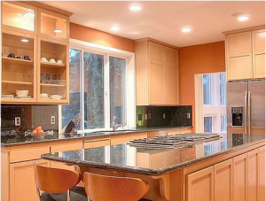 orange kitchen ideas orange modern kitchen المطبخ الجزائري العربي 14459